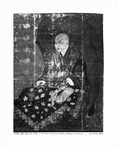 The Japanese priest Jitchin by Japanese School