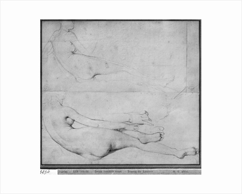 Studies for The Grande Odalisque by Jean Auguste Dominique Ingres