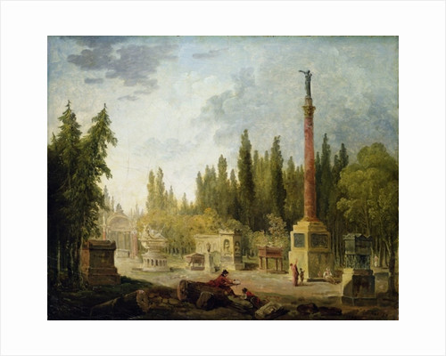 The Garden of the Musee des Monuments Francais by Hubert Robert