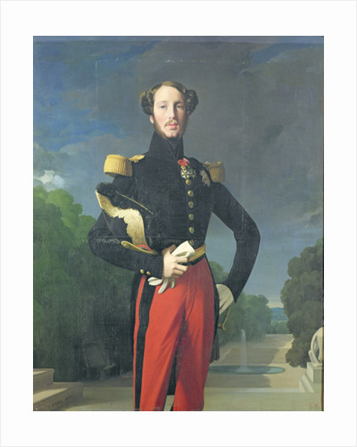 Ferdinand-Philippe Duke of Orleans in the Park at Saint-Cloud by Jean Auguste Dominique Ingres