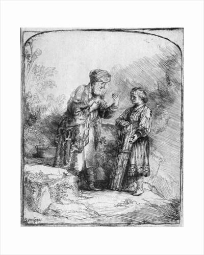 Abraham and Isaac by Rembrandt Harmensz. van Rijn