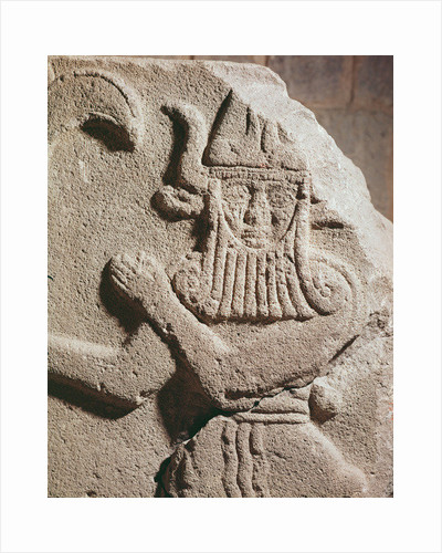 Relief depicting a Hittite idol by Assyrian School