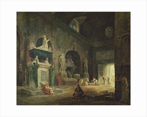 View of a Gallery in the Musee des Monuments Francais by Hubert Robert