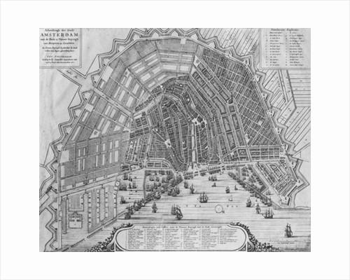 Map of Amsterdam by Cornelis I Danckerts