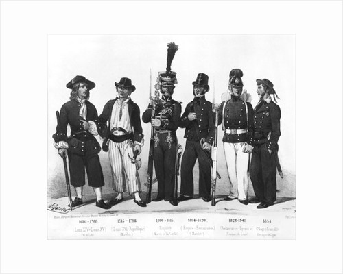 Costumes of French marines from 1680 to 1854 by Charles Vernier