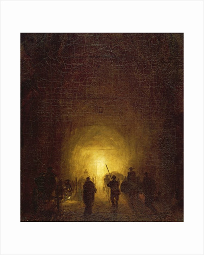 The Posillipo Cave at Naples by Hubert Robert