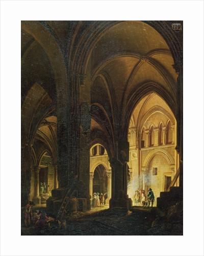 Interior of the Eglise des Saints-Innocents, Paris by Pierre Antoine Demachy