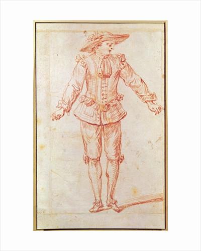 A Dancer from the Paris Opera by Jean Antoine Watteau