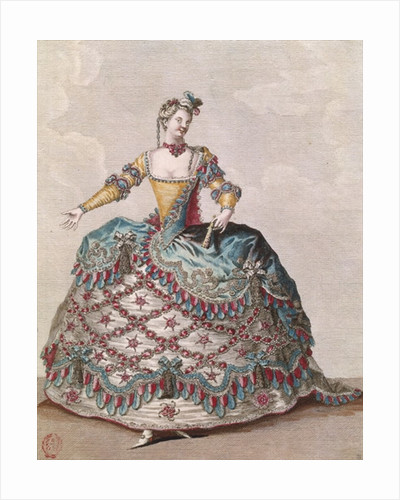 Costume for an Indian woman for the opera ballet 'Les Indes Galantes' by Jean-Philippe Rameau by Jean Baptiste Martin