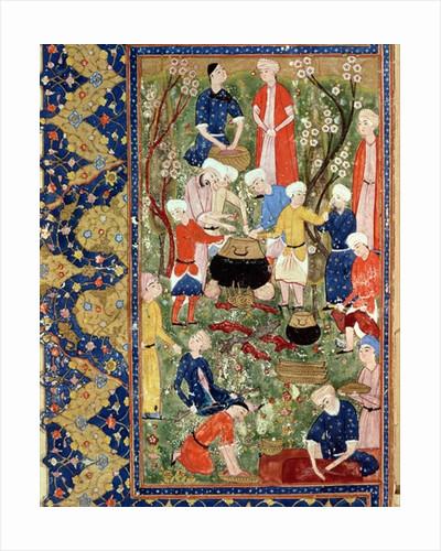 Preparing a meal by Persian School