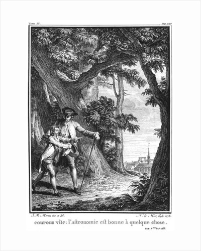 Illustration from 'L'Emile' by Jean-Jacques Rousseau by Jean Michel the Younger Moreau