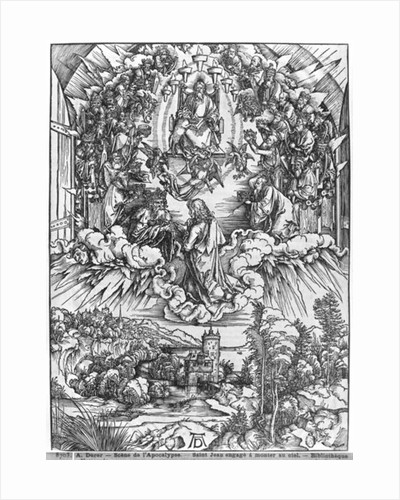 Scene from the Apocalypse, St. John before God the Father and the Twenty-Four Elders by Albrecht Dürer or Duerer