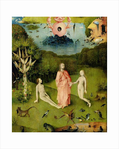 The Garden of Earthly Delights: The Garden of Eden, left wing of triptych by Hieronymus Bosch