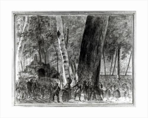 The Body of Jean Paul Marat in the Garden of the Club des Cordeliers by Claude-Noel Thevenin