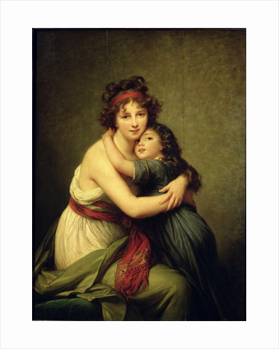 Madame Vigee-Lebrun and her Daughter, Jeanne-Lucie-Louise by Elisabeth Louise Vigee-Lebrun