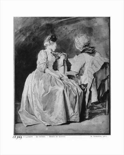 Reading by Jean-Honore Fragonard