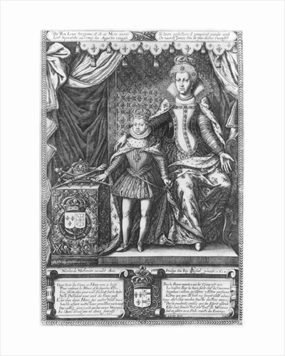 Queen Marie de Medicis and Louis XIII as a child by Francois Quesnel