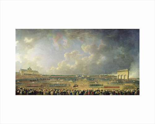 The Festival of the Federation at the Champ de Mars by Pierre-Antoine Demachy