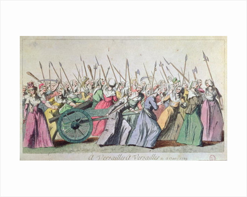 'A Versailles, A Versailles' March of the Women on Versailles, Paris by French School