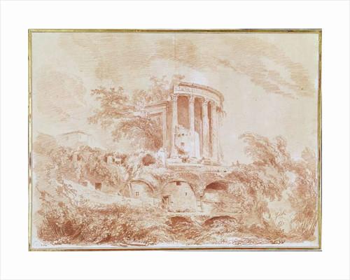 Temple of the Sybil at Tivoli by Jean-Honore Fragonard