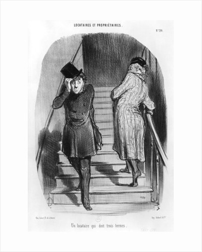 A tenant who owes three terms by Honore Daumier