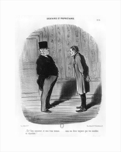 Well, Sir, what about my three terms? by Honore Daumier