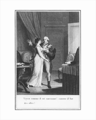 Illustration from 'The Sorrows of Werther' by Johann Wolfgang Goethe by Jean Michel the Younger Moreau