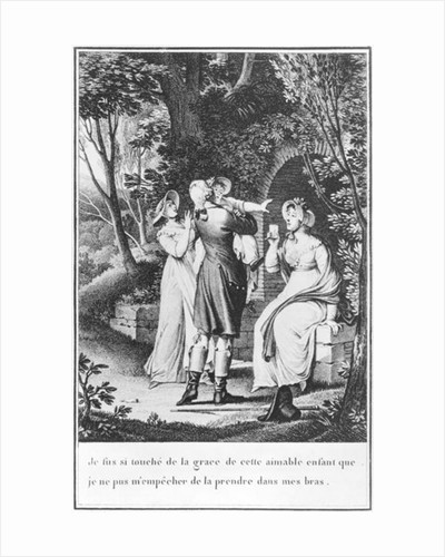 Illustration from 'The Sorrows of Werther' by Johann Wolfgang Goethe engraved by E. Deghent by Jean Michel the Younger Moreau