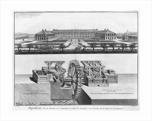 A paper mill by Louis-Jacques Goussier