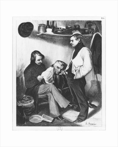 Memories of Sainte-Pelagie by Honore Daumier
