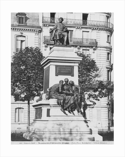 Monument to Alexandre Dumas Pere by Gustave Dore