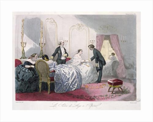 Le Salon de loge a l'Opera by Francois Claudius Compte-Calix