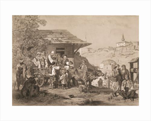 Bulgarians near Varna, printed by Lemercier, Paris by Jules Joseph Augustin Laurens
