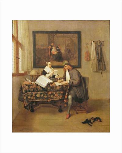 The Studious Life by Quiringh Gerritsz. van Brekelenkam