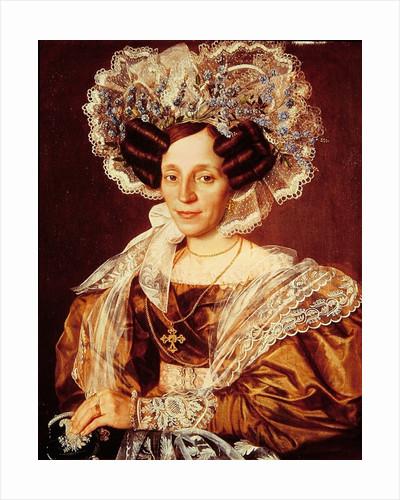 Portrait of Barbara Smetanova, mother of Federic Smetana by Antonin Machek