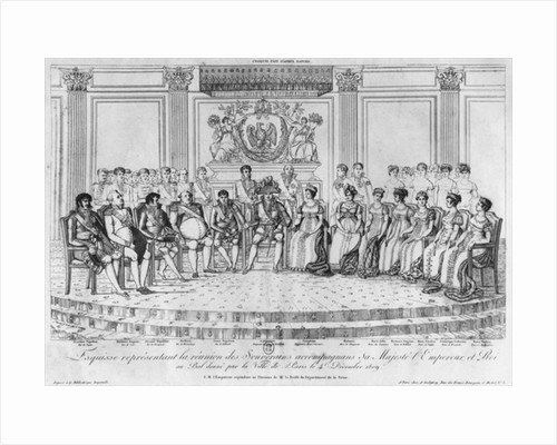Sketch depicting Napoleon I and the sovereigns at the ball given by the city of Paris on 4th December 1809 by Adrien Pierre Francois Godefroy