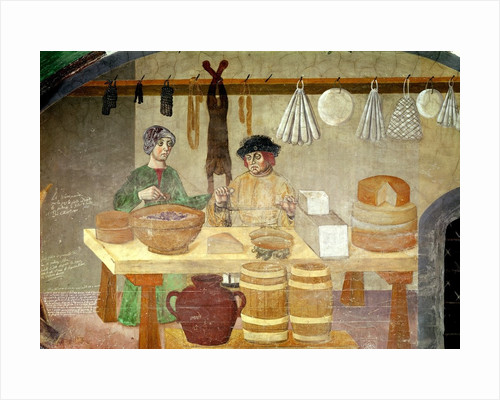Sausage and Cheese Sellers by Italian School