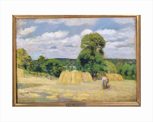 Harvesting at Montfoucault by Camille Pissarro