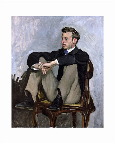 Portrait of Auguste Renoir by Jean Frederic Bazille