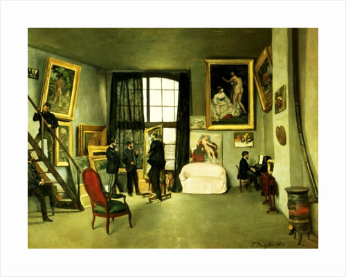 The Artist's Studio by Jean Frederic Bazille