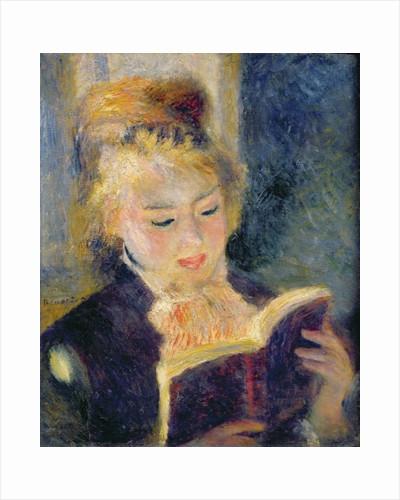 Girl Reading by Pierre Auguste Renoir