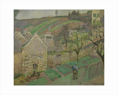 Hillside of the Hermitage, Pontoise by Camille Pissarro