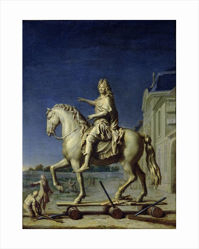 Transporting the Equestrian Statue of Louis XIV to the Place Vendome in 1699 by Rene Antoine Houasse