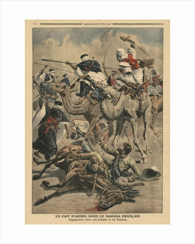 French troops in Sahara by French School