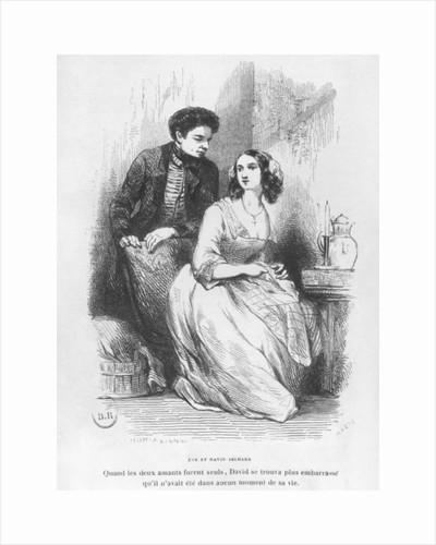 Eve and David Sechard by Celestin Francois Nanteuil