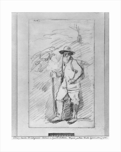 Camille Pissarro by Paul Cezanne