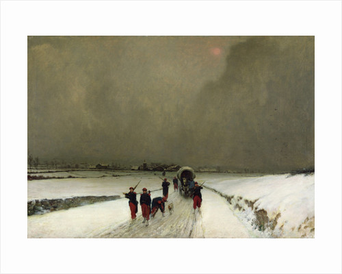 The Stragglers, Snow Effect by Augustin Pierre Chenu
