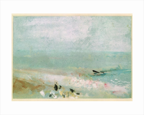 Beach with figures and a jetty by Joseph Mallord William Turner