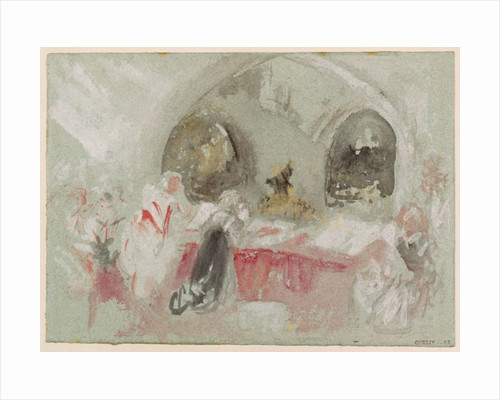 Service in the chapel at Petworth by Joseph Mallord William Turner