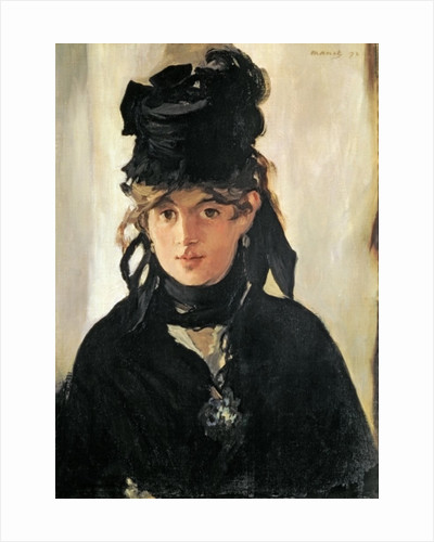 Berthe Morisot with a Bouquet of Violets by Edouard Manet